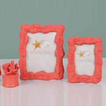 coral photo frame decor