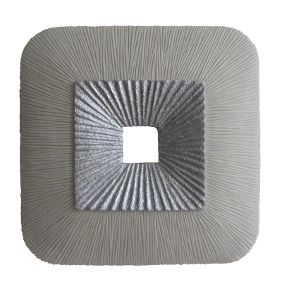 Double Square Wall Decoration With Silver Hole